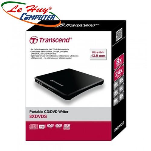 Ổ Đĩa Rời Đọc Và Ghi CD/DVD Transcend TS8XDVDS-K - Hàng Chính Hãng