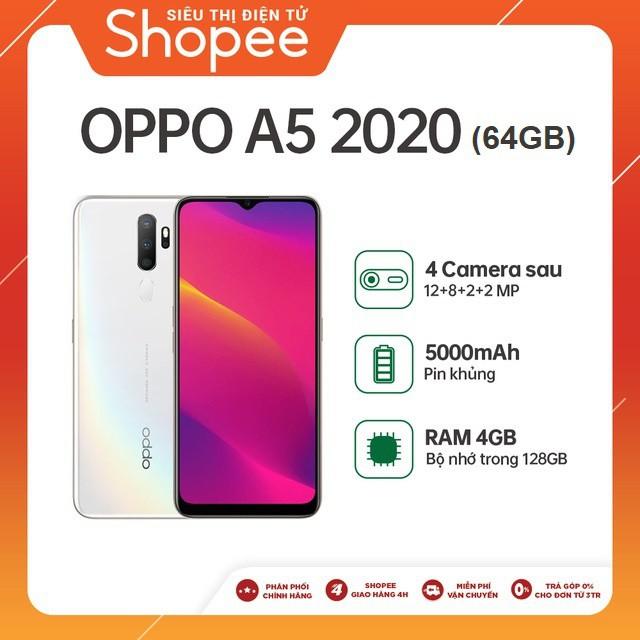 Điện thoại OPPO A5 (2020) 64GB - Tr