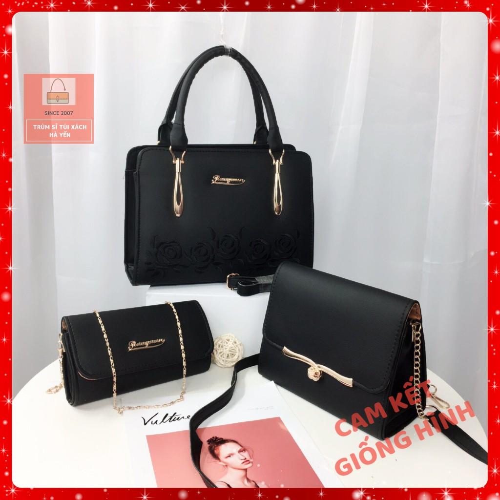 Bộ 3 túi xách nữ giá rẻ đẹp, túi xách nữ công sở, túi xách nữ thời trang, túi xách nữ giá rẻ, túi xách nữ cá tính LAZE01