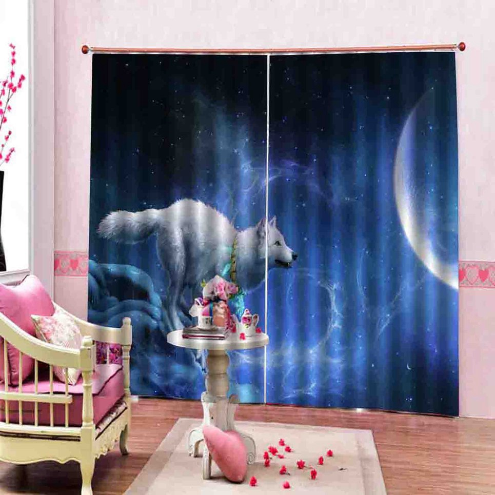 ◕‿◕NL 150*166 Curtains For Living Room Bedroom Window Curtains Digital (13) Printed