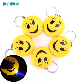 ♥Cartoon Emoji Design Led Key chain With Sound Flashlight Kid Pig Keyring