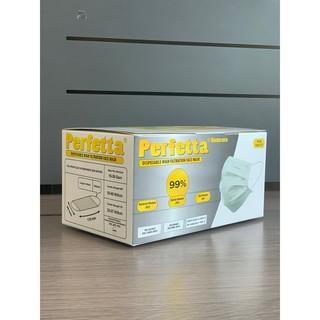 Khẩu trang y tế 3 lớp siêu mềm mượt Perfetta màu trắng (50c 1 hôp)