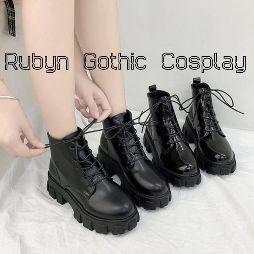 Giày Boots Chiến Binh mẫu mới 2020 5cm ( size 35-40 ) ( BÓNG và NHÁM )