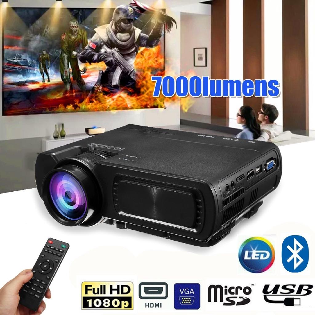 Máy Chiếu Phim Tại Nhà 7000 Lumens Hd 1080PVới Cổng HDMI Đa Phương Tiện