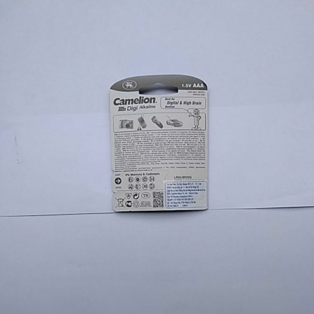 Combo 3 vỉ Pin Camelion AAA Alkaline