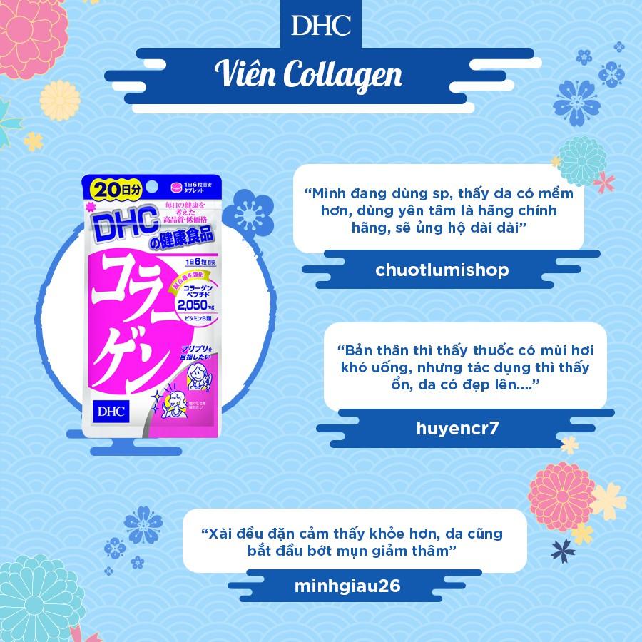 Viên uống chống lão hóa - đẹp da DHC Collagen Nhật Bản 20 Ngày (120v/gói)