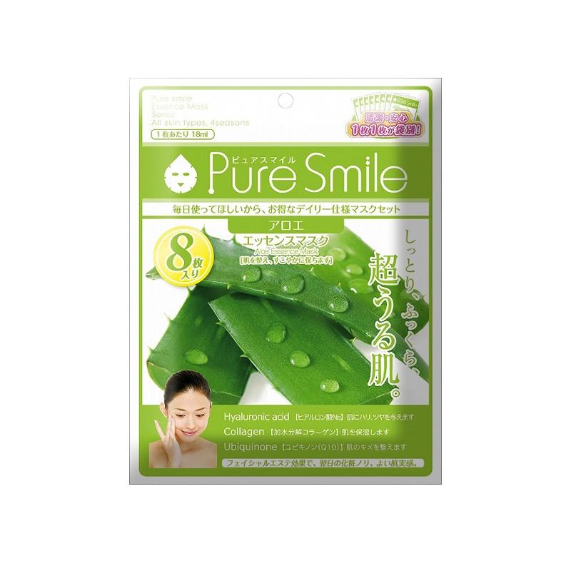 Mặt nạ dưỡng da Pure Smilechiết xuất nha đam 8 miếng
