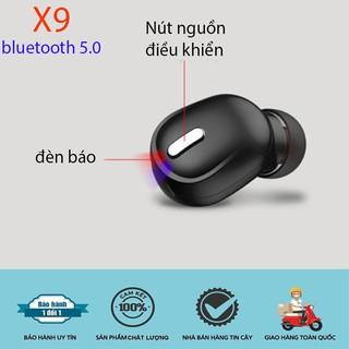 Tai Nghe Bluetooth X9 Không Dây 5.0, Phiên Bản Nhét Tai Mini, Công Nghệ Khử Ồn Cho Cuộc Gọi và âm thanh Chân Thật