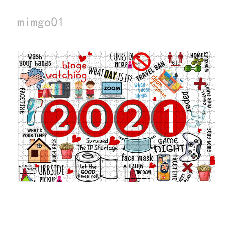 Fuyongkang 2020 Jigsaw Puzzle 1000 Piece Jigsaw to 2020 Paper Jigsaw Puzzle Adult Children Toys for Adults and Kids to Memorialize This Weird Year,Game Artwork for Adults Teens (A 1000 Piece)