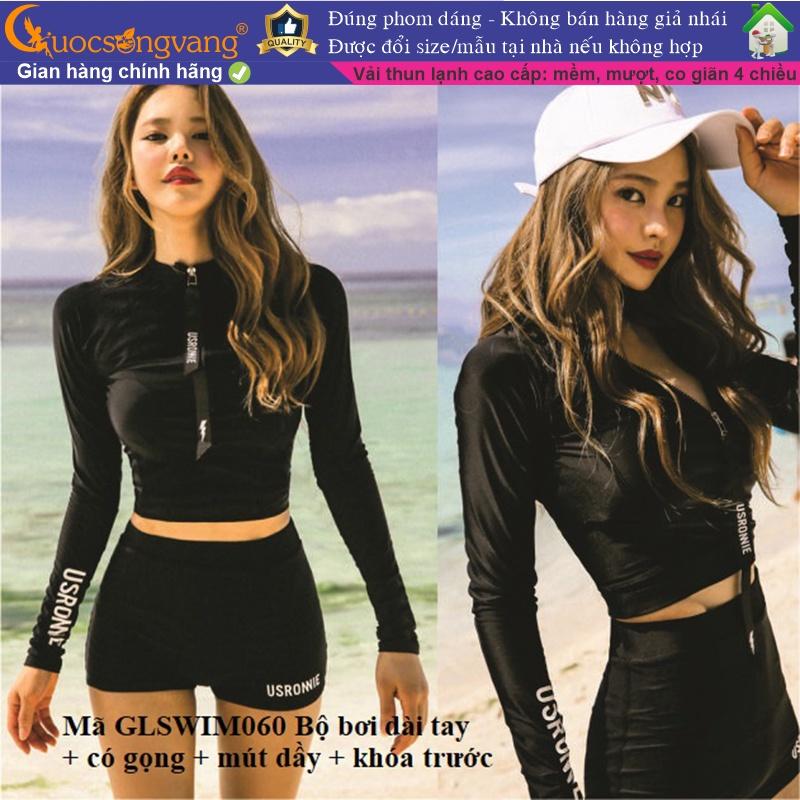Bộ đồ bơi thể thao nữ bộ đồ đi biển nữ dài tay chống gió GLSWIM060 Cuocsongvang