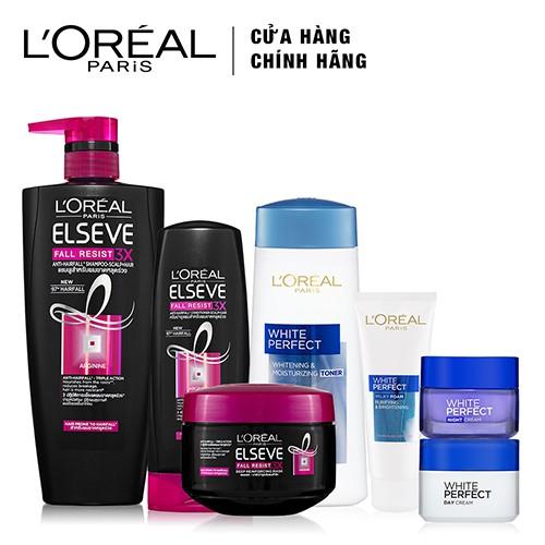 Combo dưỡng trắng da toàn diện và chăm sóc ngăn gãy rụng tóc L