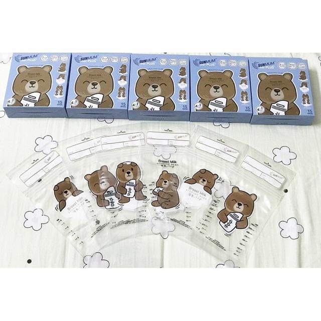 Combo 5 hộp Sunmum Gấu loại cao cấp (15 túi/ hộp)