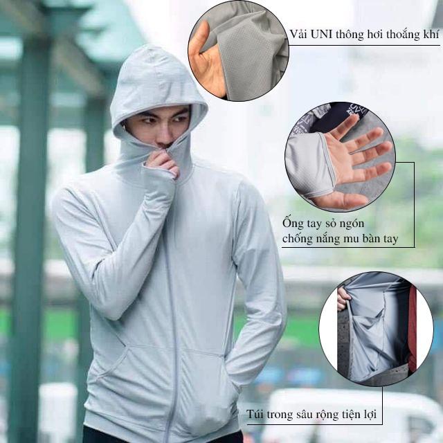 Áo Chống Nắng Nam Uniplus Cao Cấp, Chống Tia UV Gây Hại Cho Da - KienFashion - CN01 - Kèm Túi Pocket