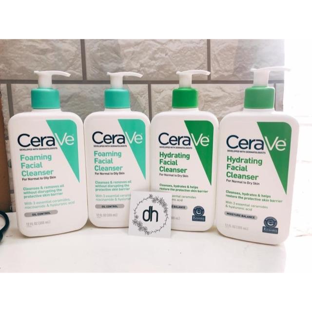 Sữa rửa mặt Cerave Foaming Facial Cleanser DA KHÔ VÀ DA DẦU 236ml/355ml