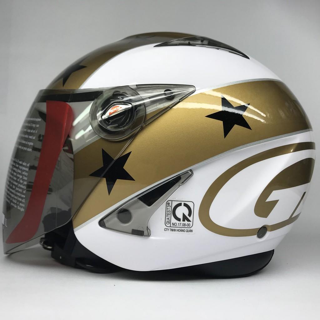 Mũ bảo hiểm GRS A27K trắng tem