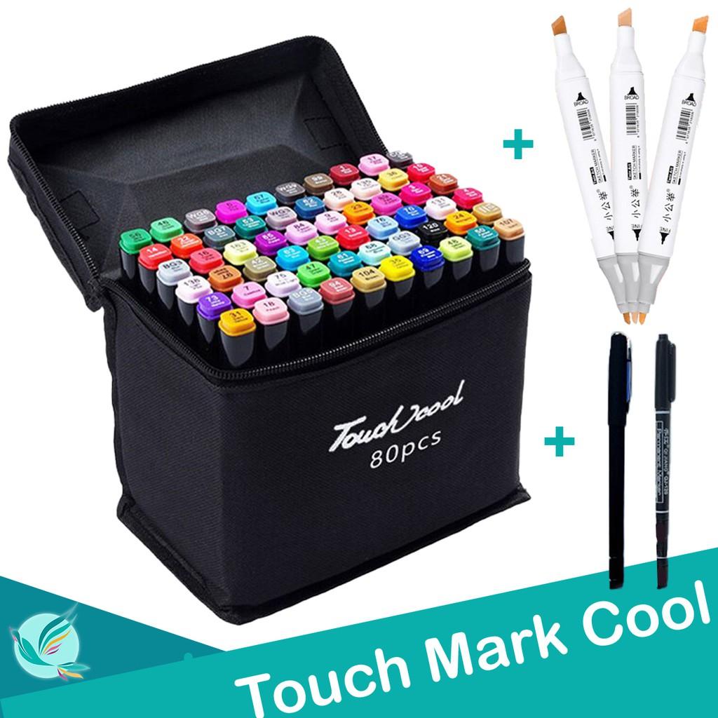 Bút vẽ, bút màu Marker TouchCool Túi Vải Bộ 30/60/80 màu, vẽ anime,chân dung,phong cảnh