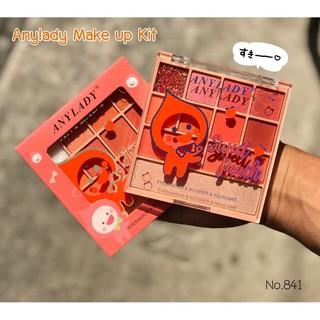 Bảng Phấn 11 Ô Phấn Mắt Kèm Phấn Má Và Phấn Nền Sweet Peach ANYLADY Mã 841