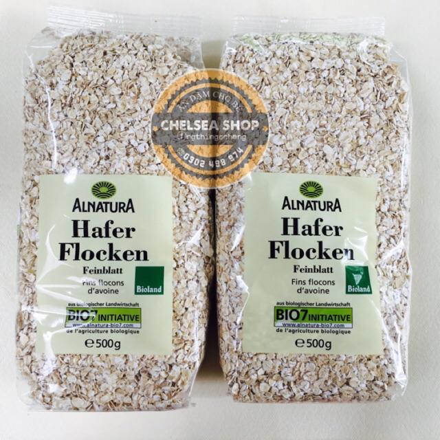 Yến mạch nguyên hạt cán vỡ Bio Alnatura Hafer Flocken 500g