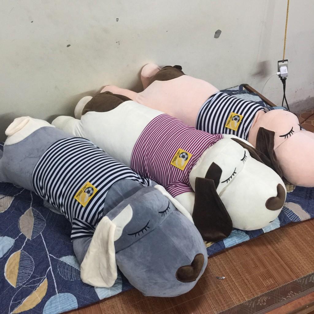 Gấu bông gối ôm chó dài khổ 1m3 siêu đáng yêu dễ thương giá rẻ hàng chuẩn chất