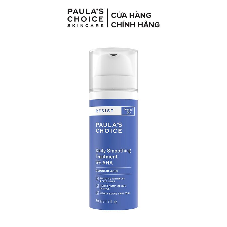Kem tẩy da chết làm trắng sáng và đều màu da Paula's Choice RESIST Daily Smoothing Treatment With 5% AHA 50 ml 7660