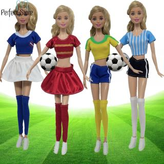 World Cup Female Footballer Dolls Clothes Doll Accessories Sports Socks + Pants/Skirt + Shirt doll