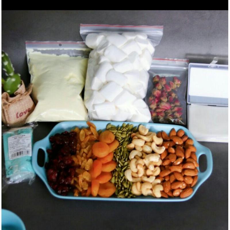Set nguyên liệu đầy đủ làm kẹo sữa hạt NOUGAT 750G - Tự làm kẹo sữa hạt