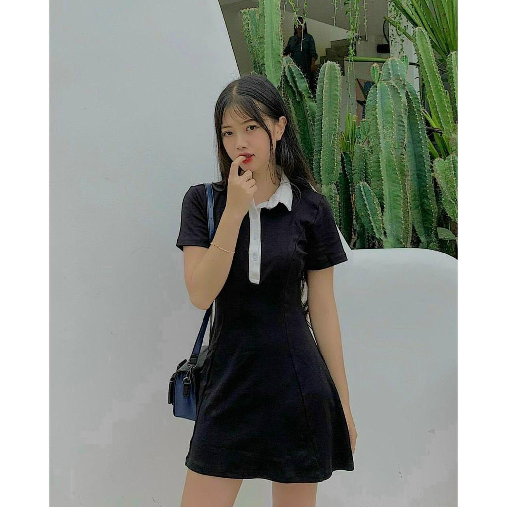 Mặc gì đẹp: Siêu xinh với Đầm Polo Body Dáng Suông LATOZIA, Váy Polo Nữ Tay Ngắn Đi Dự Tiệc Siêu Xinh FS04
