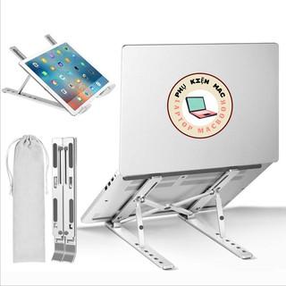Giá Đỡ Macbook , Laptop , Ultrabook Chất Liệu Bằng Nhôm , Điều Chỉnh Độ Cao , Chống Mỏi Cổ , Hỗ Trợ Tản Nhiệt , Gấp Gọn thumbnail