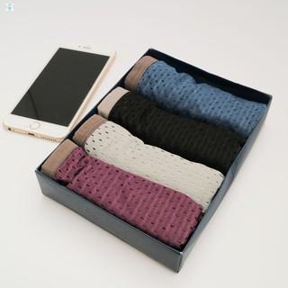 Com bo 4 quần lót thông hơi dành cho nam HÀNG CÒN TRONG KHO