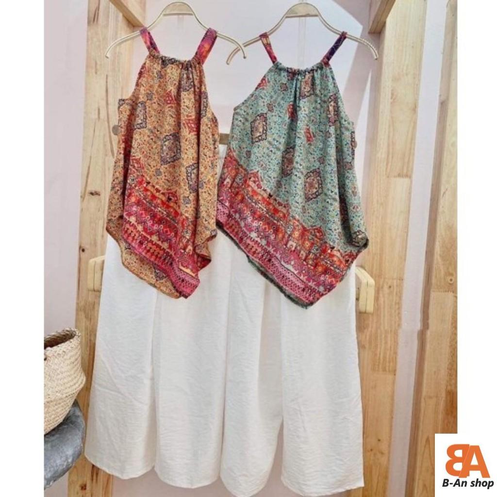 Sét áo yếm thổ cẩm + quần đũi ống rỗng