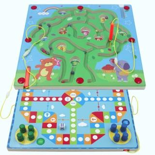 Mê cung nam châm kết hợp chơi cờ cho bé