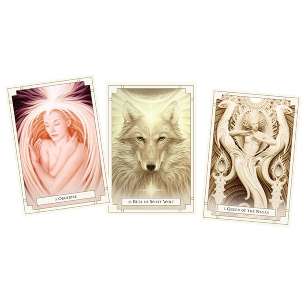[Rollingstone]Tarot Cards White Light Oracle Cards Board Games Party Supplies for Adult Children