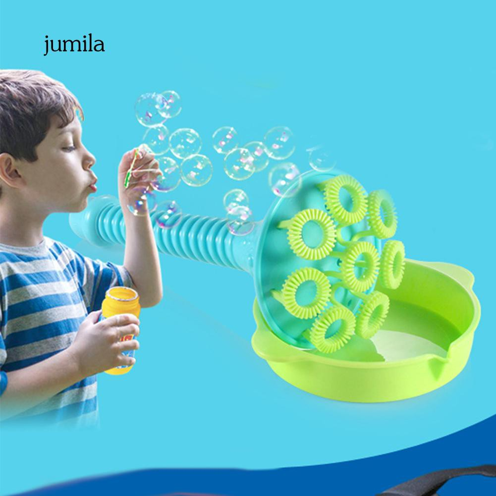 JL_Outdoor 8 Holes Blowing Bubble Making Wand with Dipping Dish Children Toy Gift