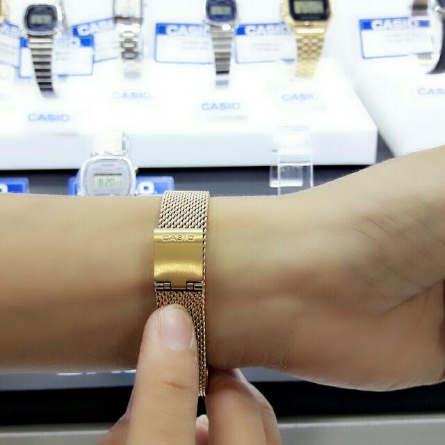 Đồng hồ Casio chính hãng nữ dây thép lưới LA670WEM