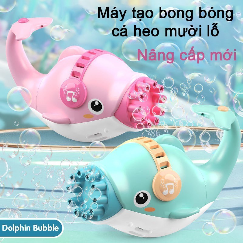 Súng bắn bong bóng cá heo 10 lỗ cho bé