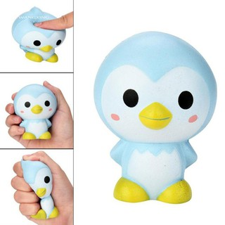 WX_Kids Adults Cute Cartoon Penguin Squishy Slow Rising Squeeze Toy Stress Reliever