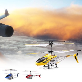 New Syma S107G Phantom 3.5Ch Mini Metal Rc Helicopter Gyro Red Rc Toy Red Yellow