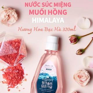 Nước súc miệng Bamboo Salt Muối Hồng Himalaya Hương Hoa Bạc Hà 320ml