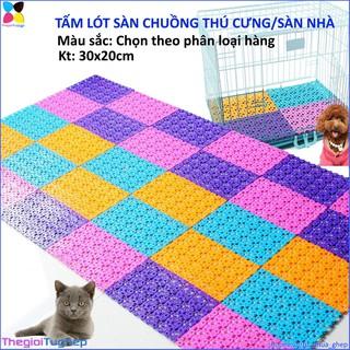 Combo 6 tấm lót sàn chuồng chó mèo nhựa 20 thumbnail