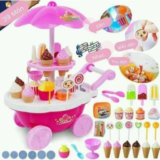 [⚡️ Sale ⚡️] đồ chơi xe kem cho bé – có đè có nhạc | Hàng Bán Chạy