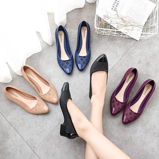 Giày nhựa đi mưa chịu nước ,chống trơn trượt, thoáng chân, dáng búp bê công sở V258
