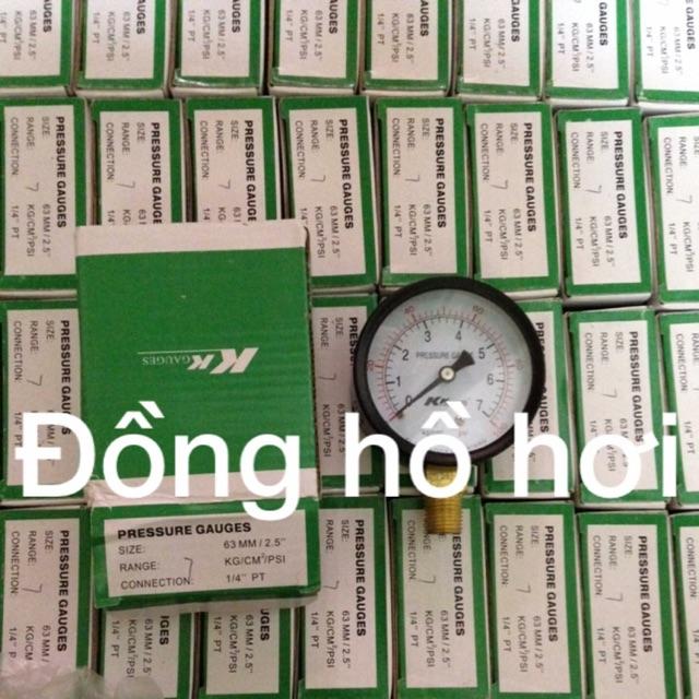 Đồng hồ đo áp suất khí nén 5-7-10-15-20kg mặt phi 63
