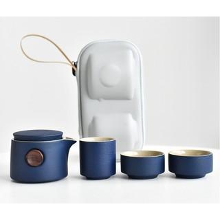Bộ trà du lịch tiện lợi kèm túi chống sốc, kiểu dáng tân cổ điển, Dung tích 300ml DUL1 thumbnail