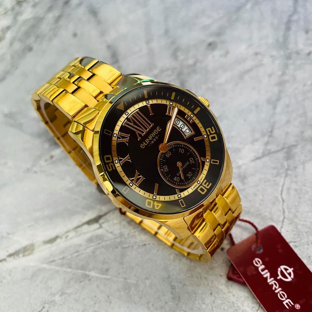 Đồng hồ Sunrise nam chính hãng Nhật Bản M1245.SA.G.D - kính saphire chống trầy - chố