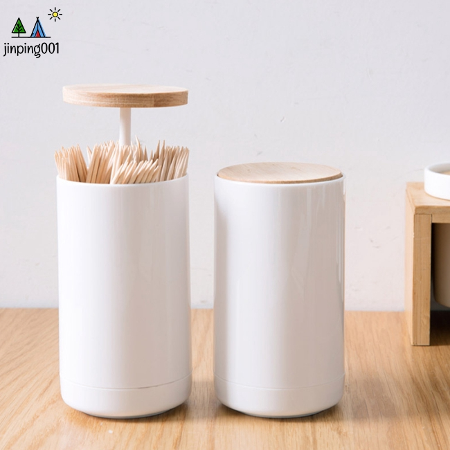 Portable Press Style Pop up Automatically Toothpick Holder for Home Living Room