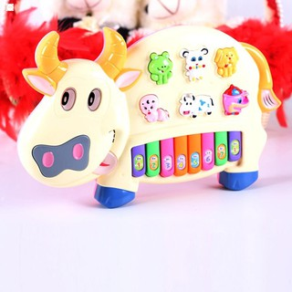 Đồ chơi đàn piano đồ chơi hình chú bò sữa Sản Phẩm Sáng Tạo