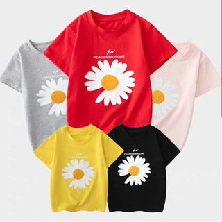 áo thun cao cấp cho bé unisex in hoa cúc siêu hot từ 5 đến 14 tuổi 222