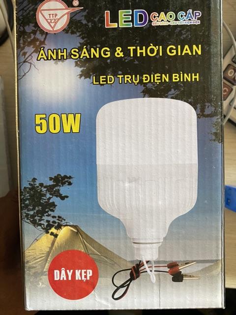 Bóng đèn Led Trụ 50W kín nước kẹp bình ắc quy 12V - 50W kẹp ắc quy 12V siêu sáng