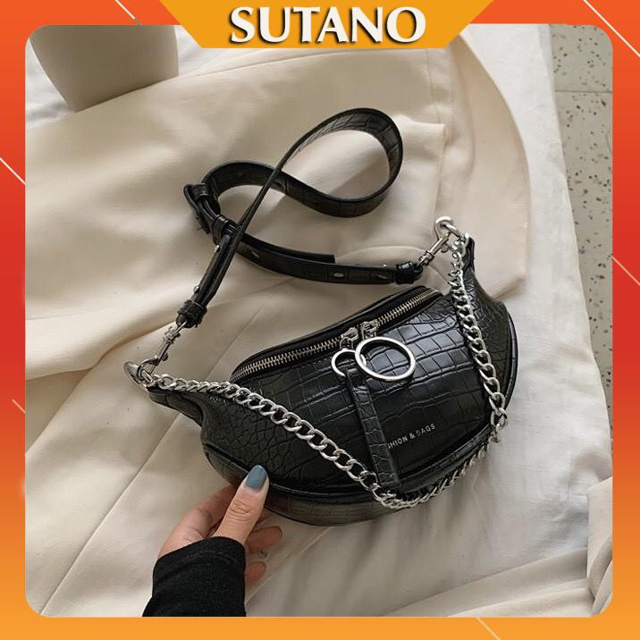 Túi xách nữ thời thượng đeo chéo khóa tròn sang trọng -T241