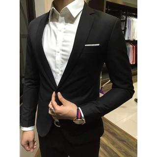 Bộ Vest Nam Form Ôm Body Chất Vải Dày Mịn (áo+quần+cà vạt+nơ)